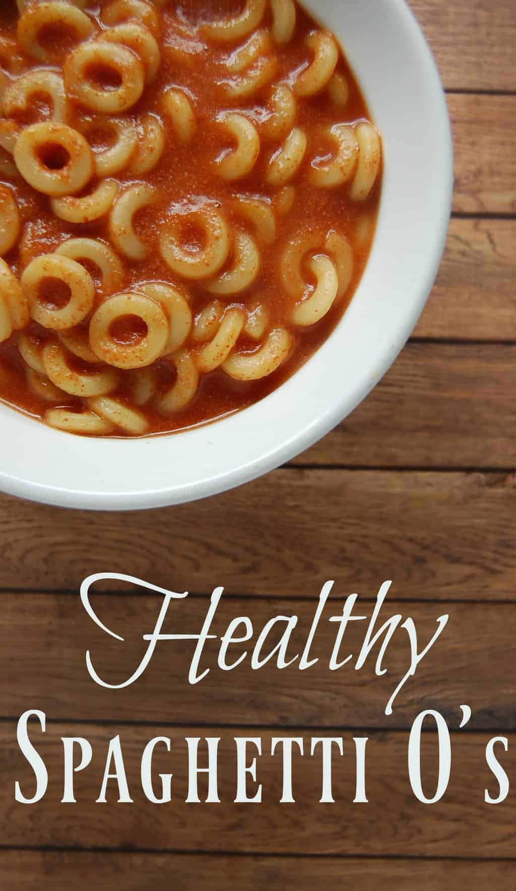Healthy Spaghetti O's - Awesome! Let your kids have Spaghetti O's! No guilt here with this BPA free, HFCS free, real food spaghetti o recipe! You can even make it dairy free! #SpaghtettiOs #kidfood #kids #healthyfoods