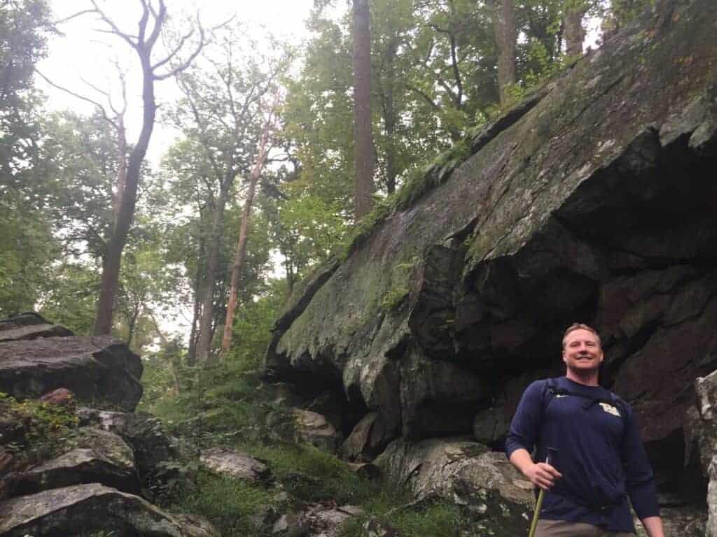 Russ hiking Cunningham Falls State Park Cliff Trail