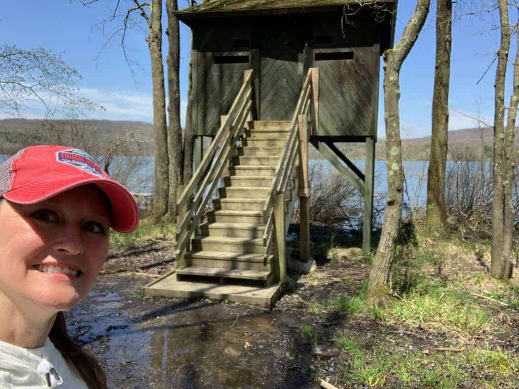 yellow creek waterfowl observatory selfie