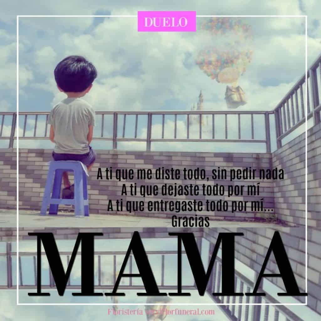 Frases a una madre ausente o cartas a una madre ausente por fallecimiento.