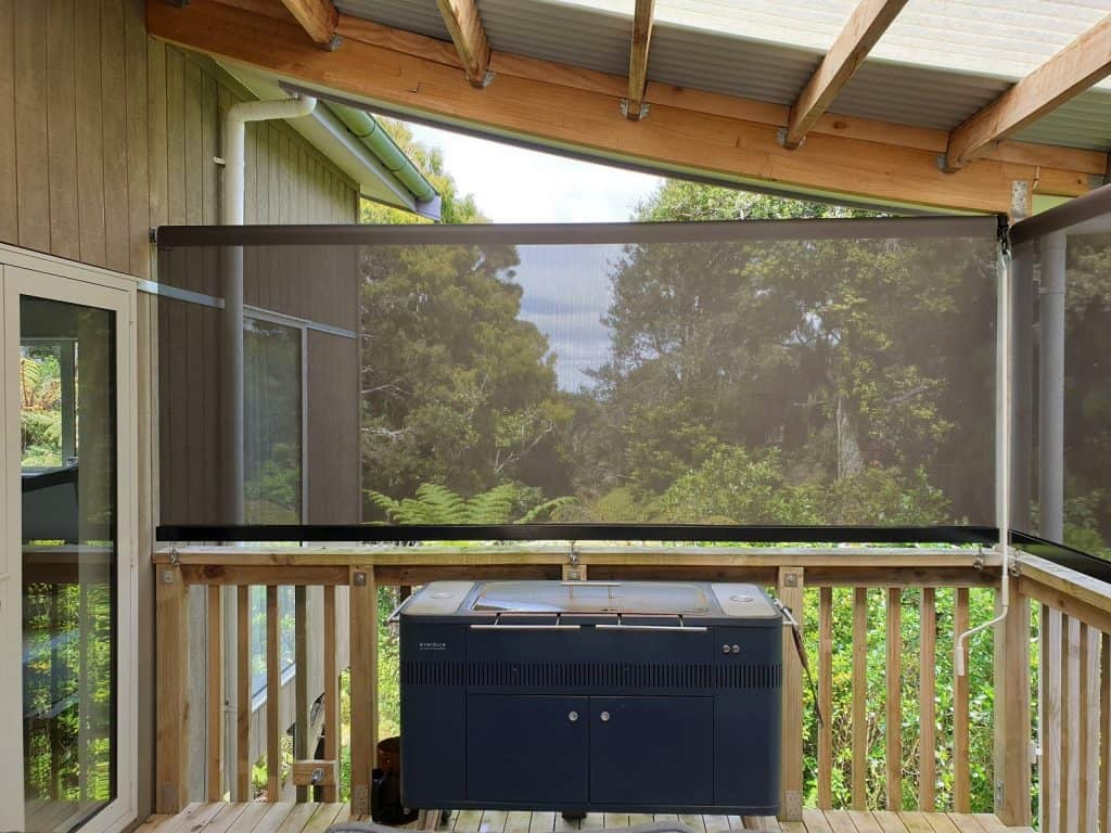 Mesh fabric patio blinds in Warkworth