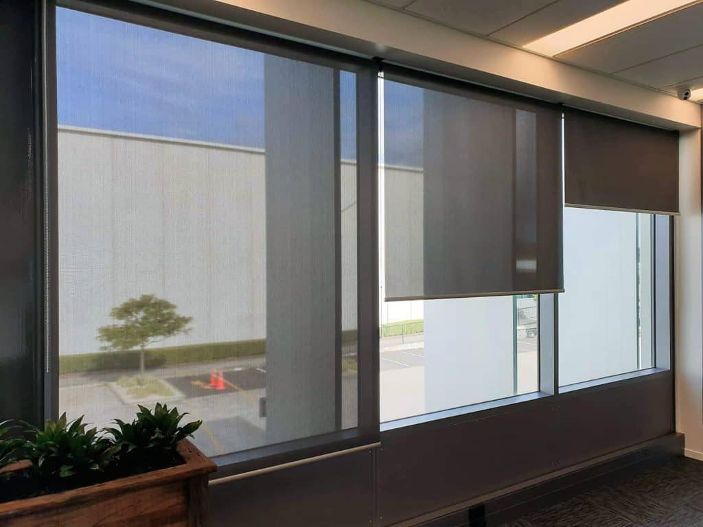 Suncreen roller blinds office