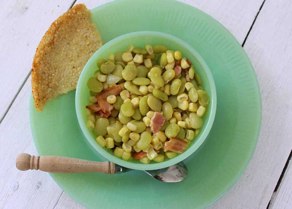 Succotash. A simple dish of corn and baby limas.