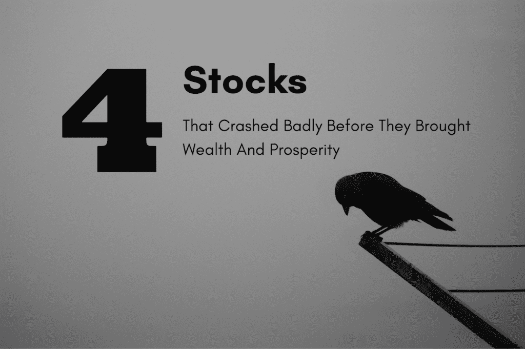 Stocks that crashed badly before they brought wealth and prosperity
