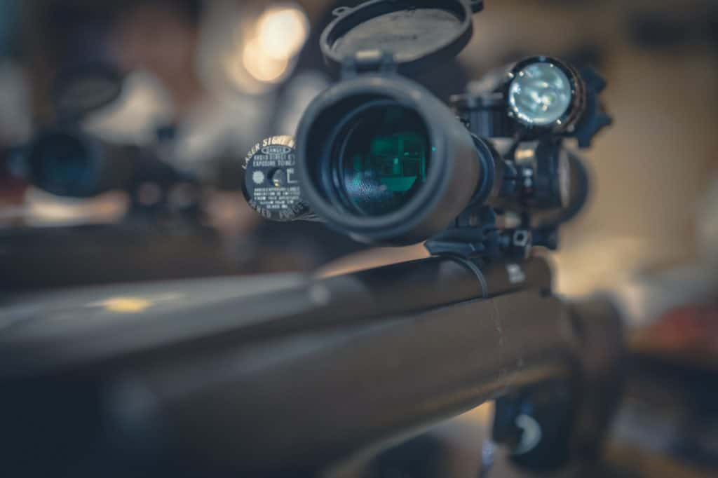 Green lens on a scope