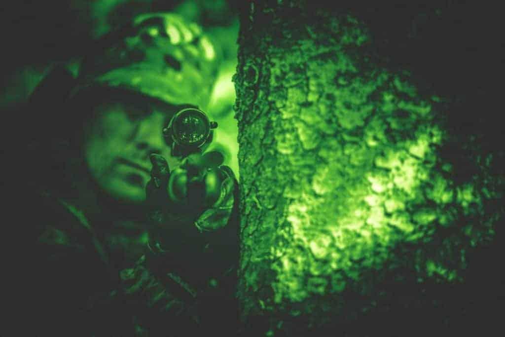 hunter during night