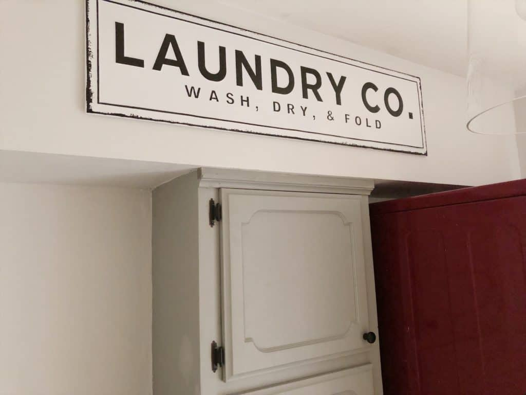 laundry room sign from Kirklands