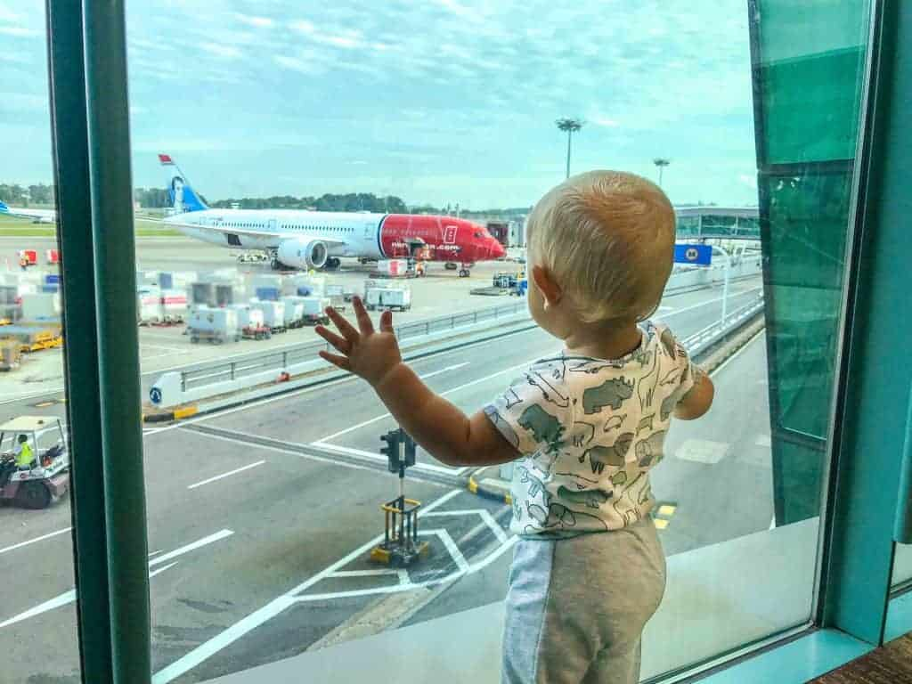 flying with a baby or toddler