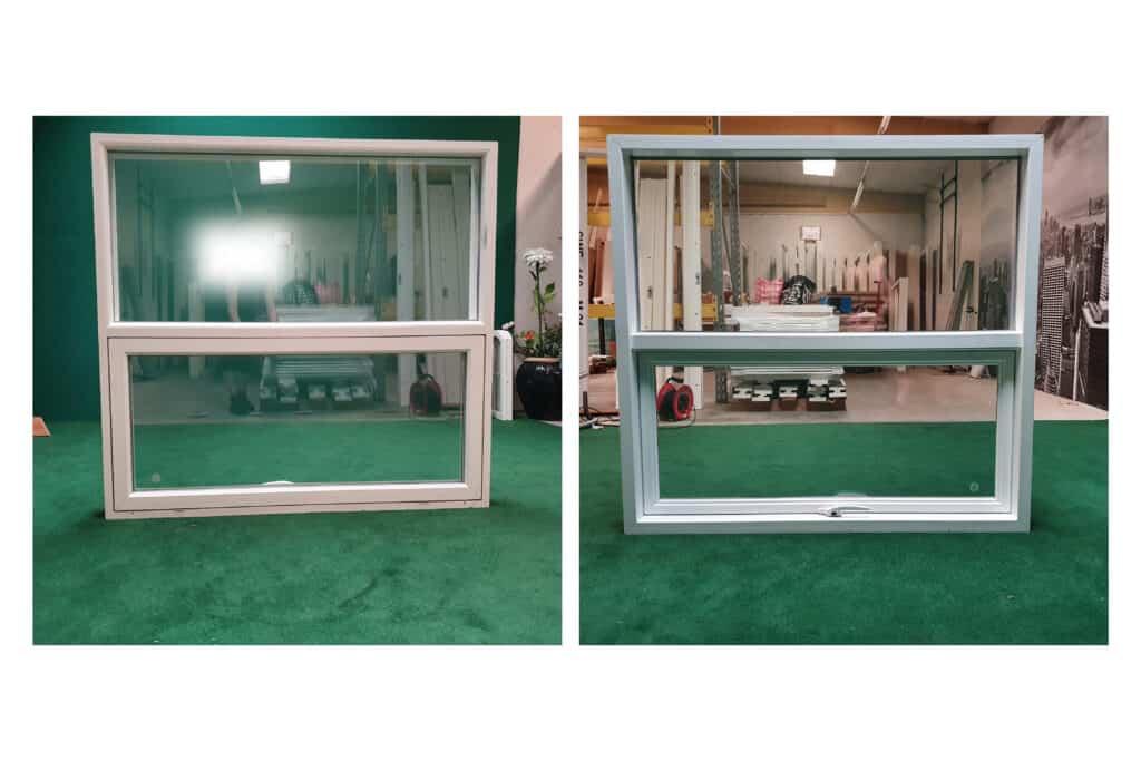 Topstyret vindue med fastkarmsvindue