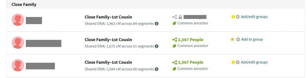 half siblings fall into the close family category on ancestry dna