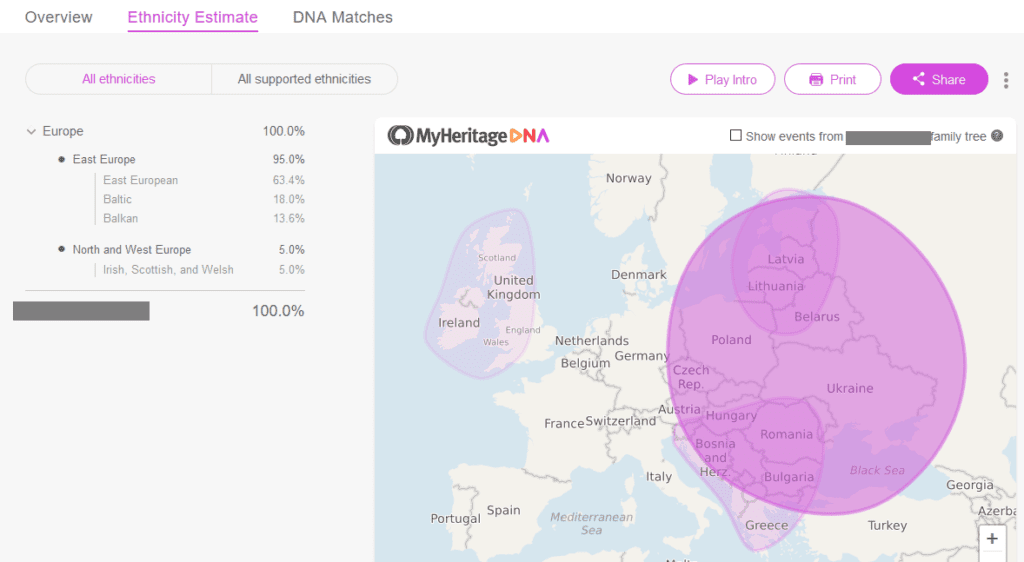 Example of my heritage dna ethnicity results