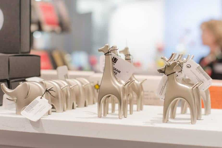 animal-shaped ring holders at Wichita Art Museum store