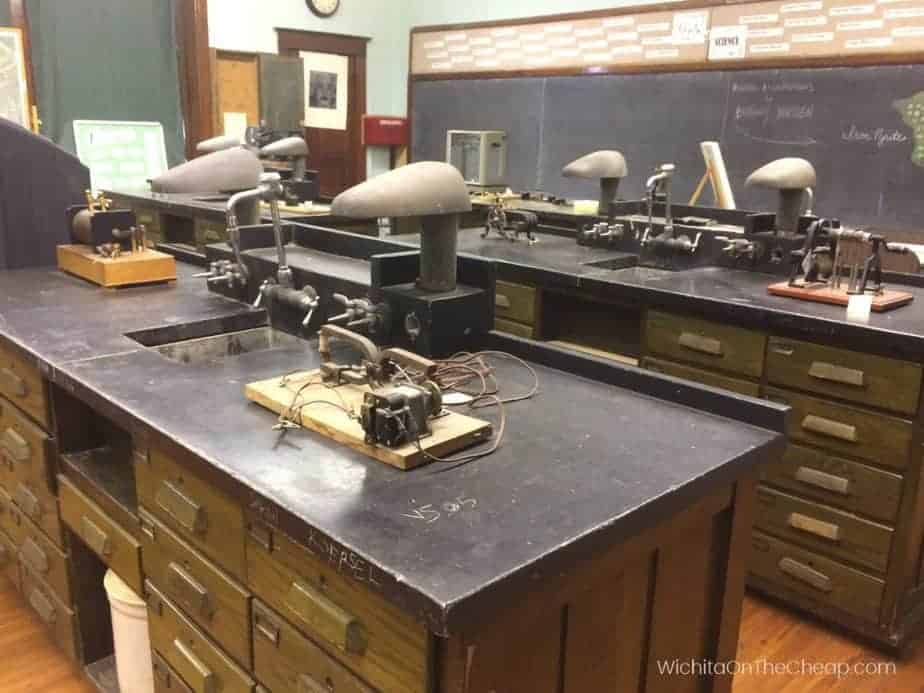 McCormick School Museum Wichita, science classroom