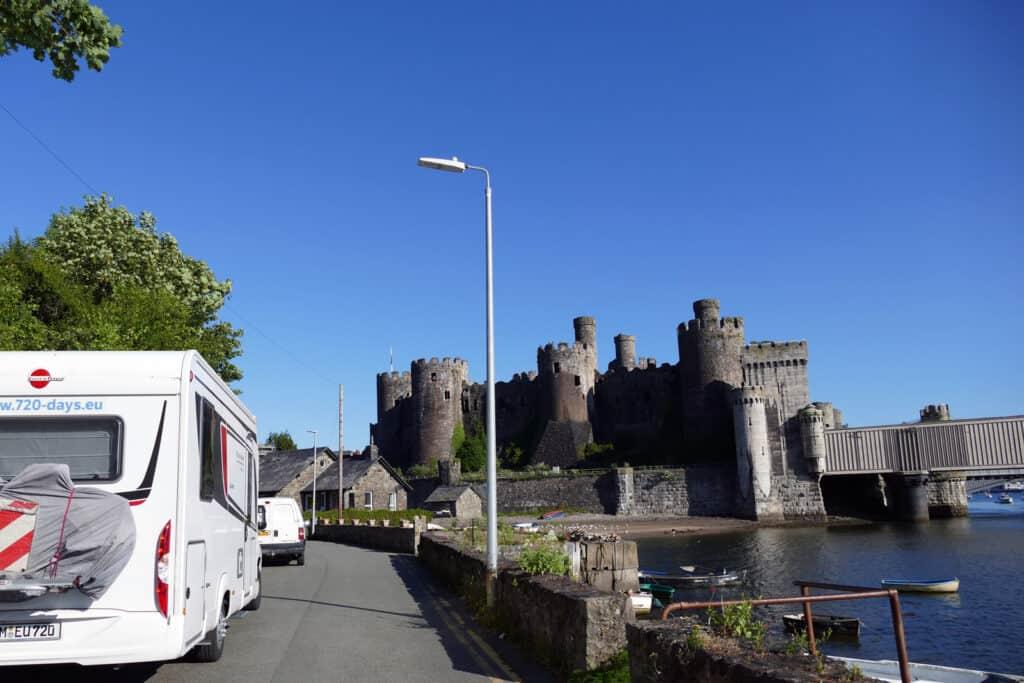 Blick auf Conwy Castle