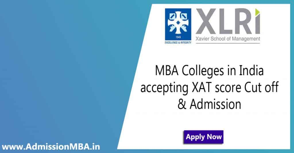 MBA Colleges in India accepting XAT score