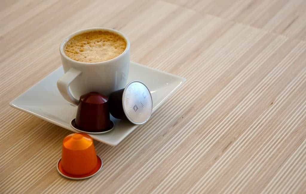 Coffee made from capsules