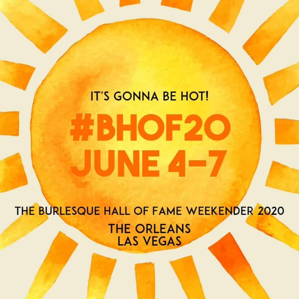 Image of the sun with information about BHoF Weekender 2020, June 4-7 at The Orleans, Las Vegas