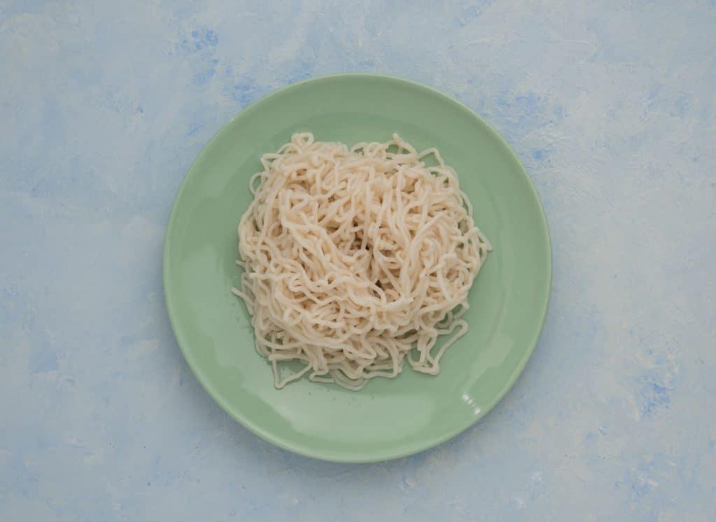 zeroodle noodles on plate