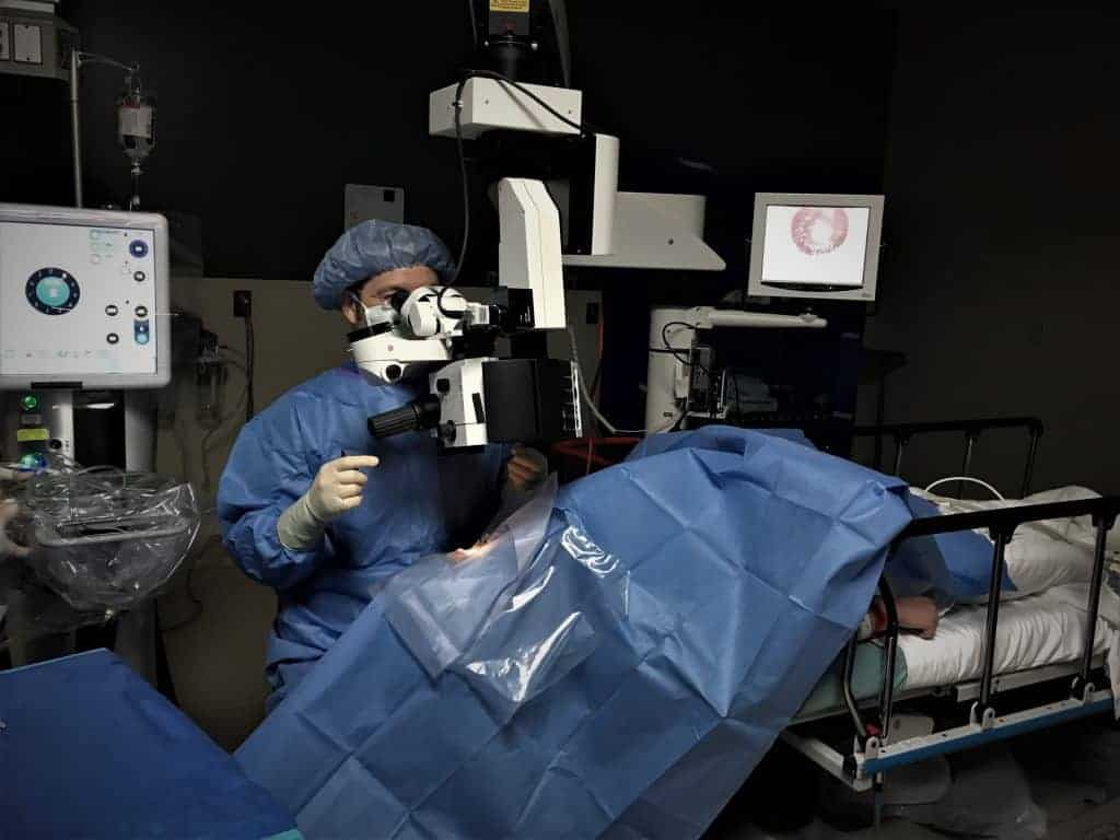 Dr. Kavanagh Eye Associates of South Texas performs cataract surgery