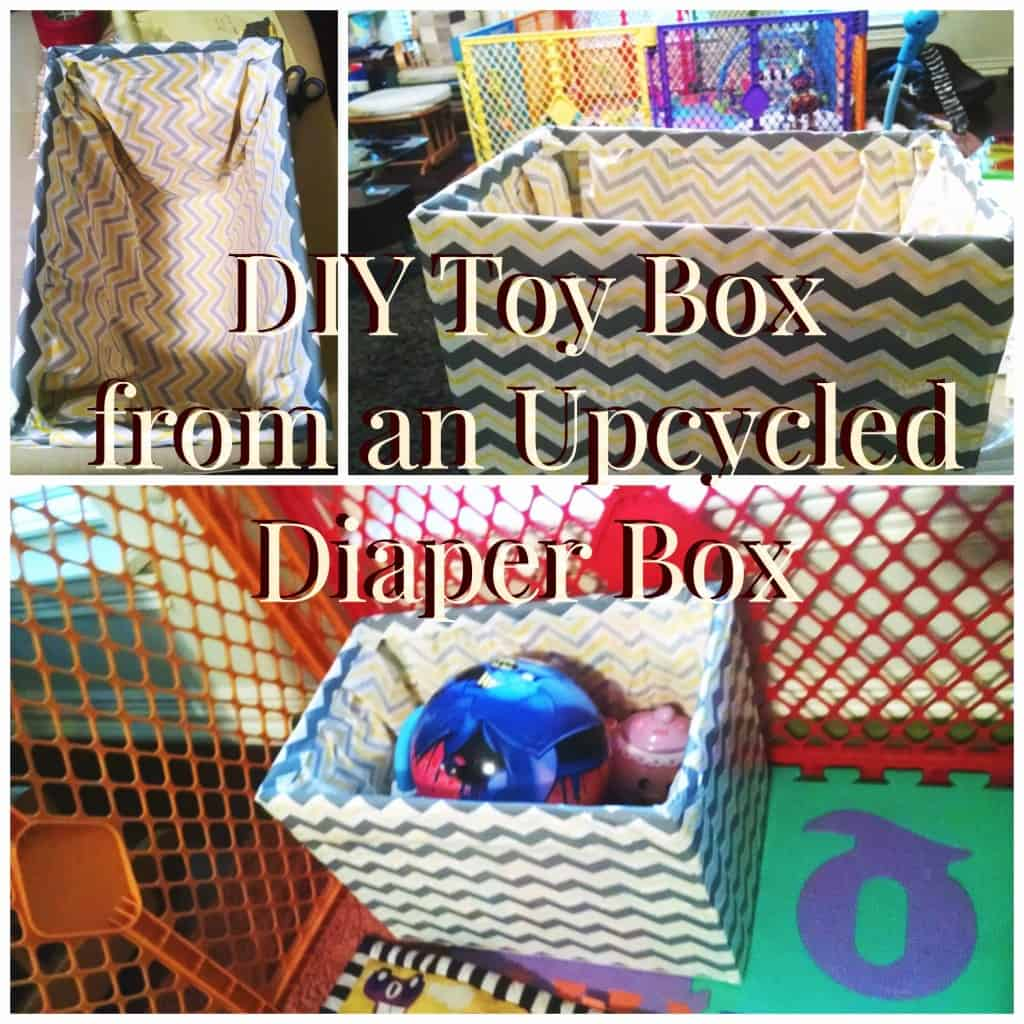 DIY Toy Box Diaper Box Collage