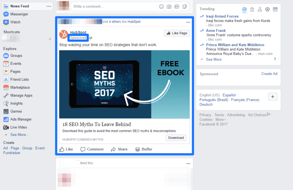 Facebook remarketing graphic