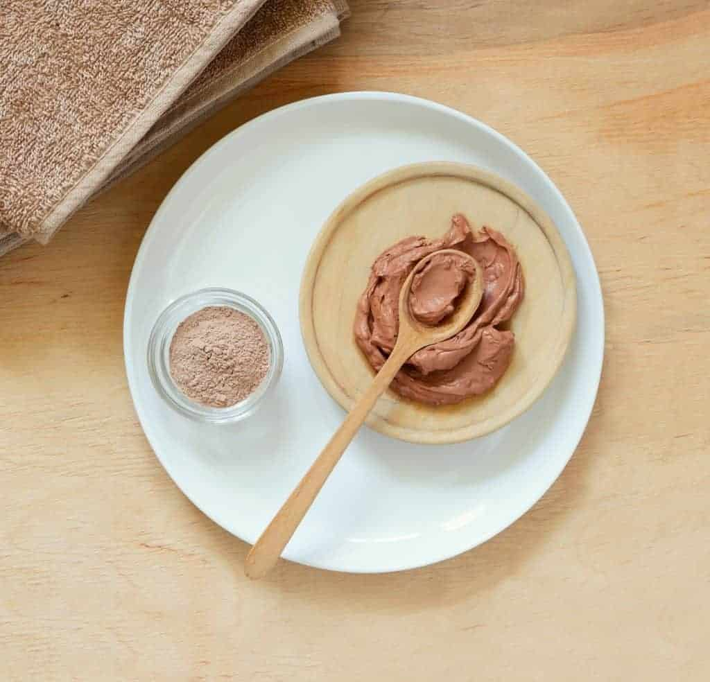 pink clay in skin care masks