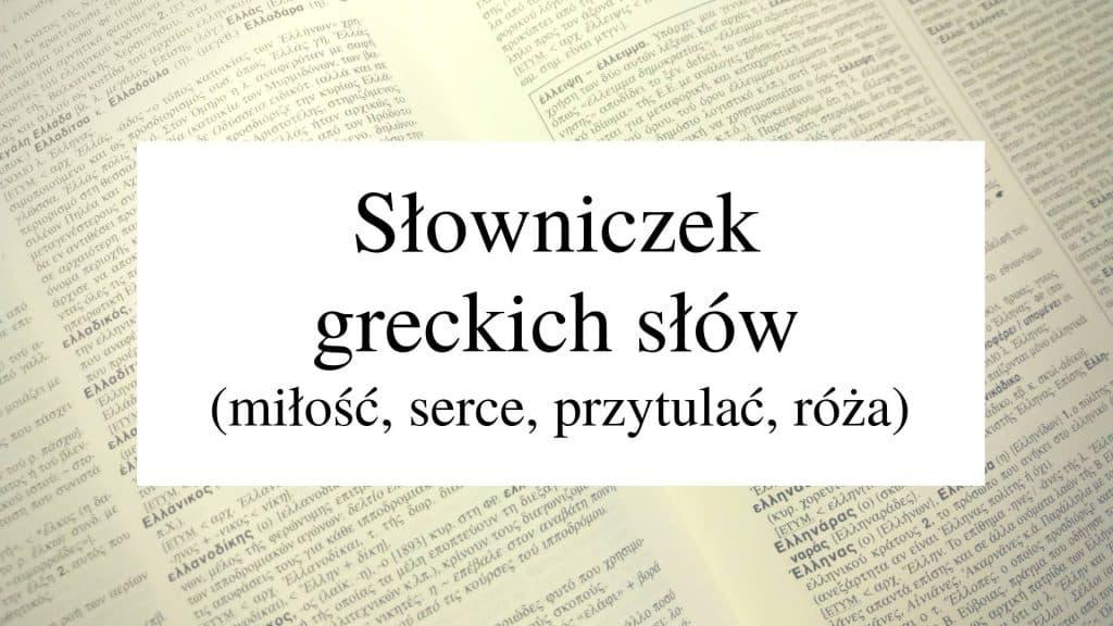 Slowniczek greckich slow 12