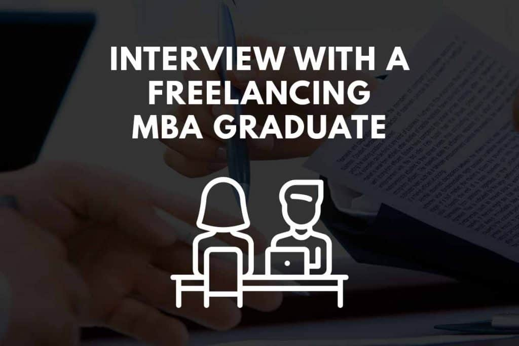 interviewing with a freelancing mba graduate