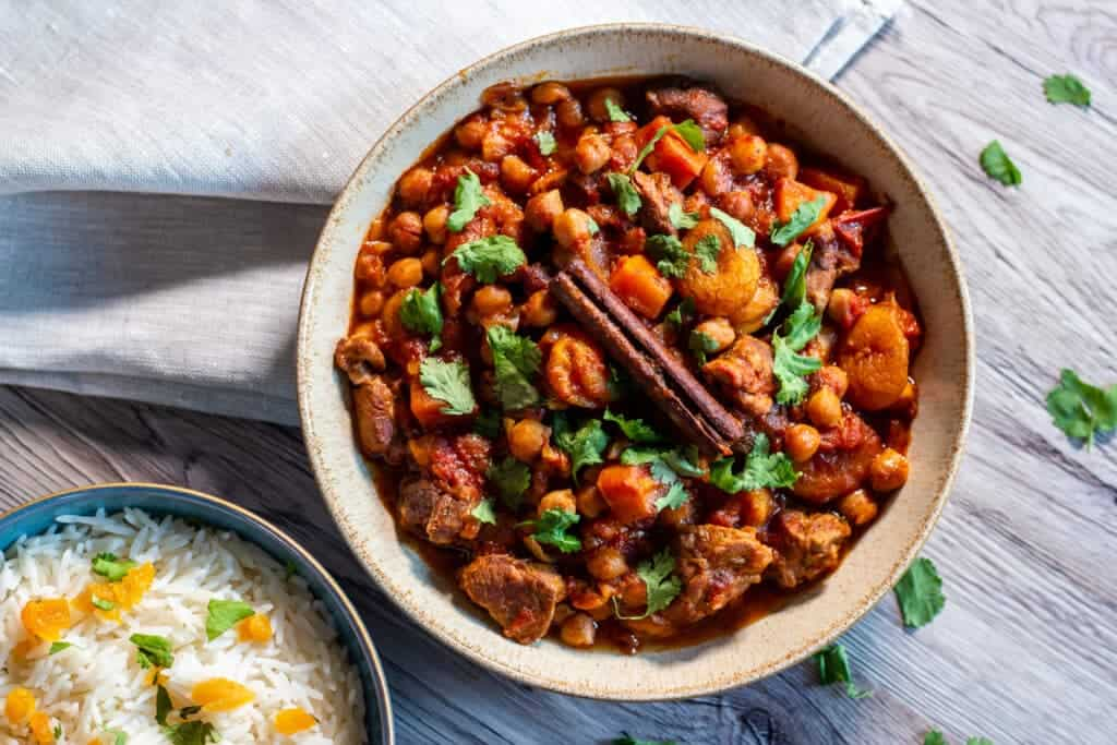 Slow Cooker Lamb Tagine from above