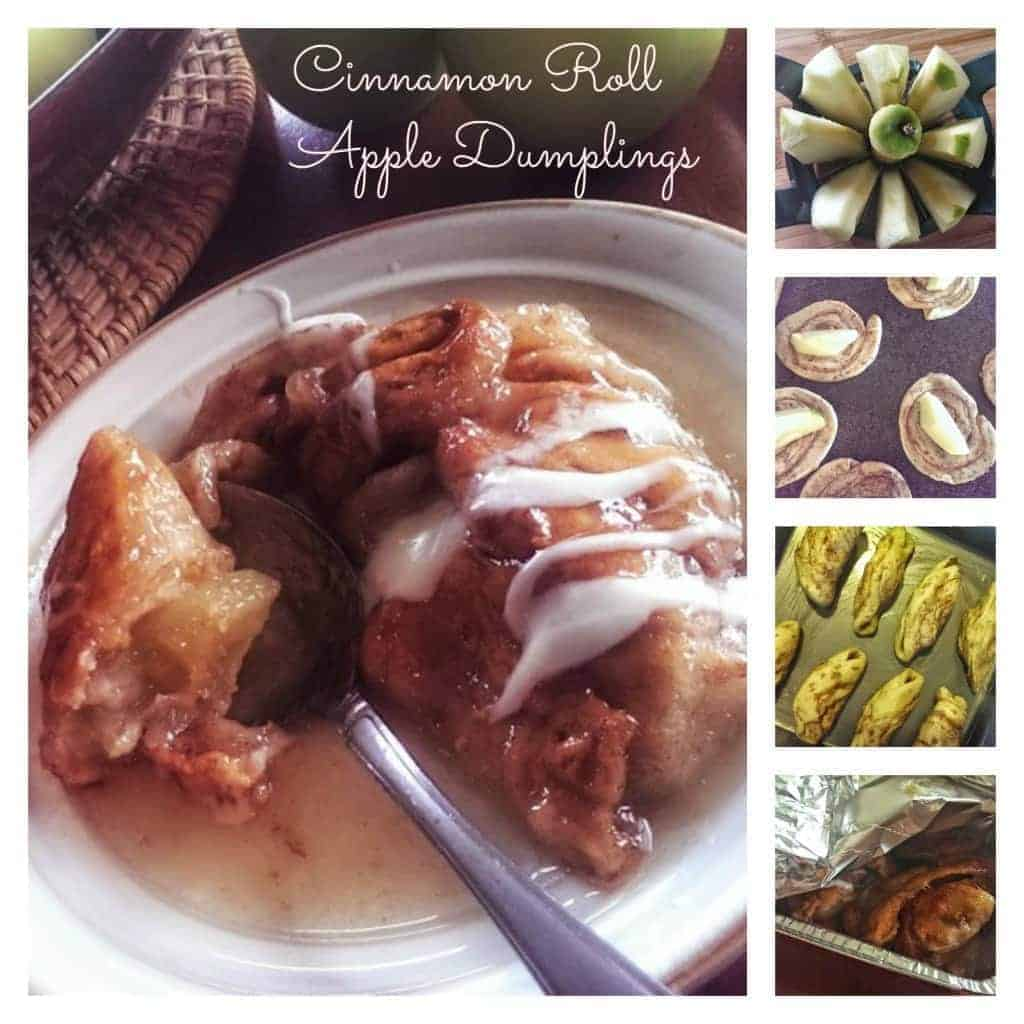 Cinnamon roll dumplings Collage