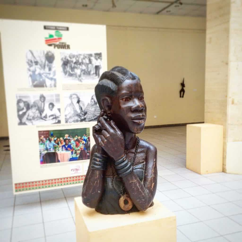 A bust at the National Museum in Lusaka