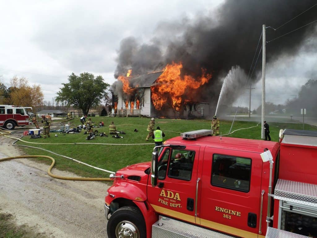 ADA performing a controlled burn