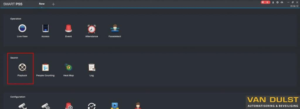 Dahua Smart PSS handleiding beelden terug kijken playback