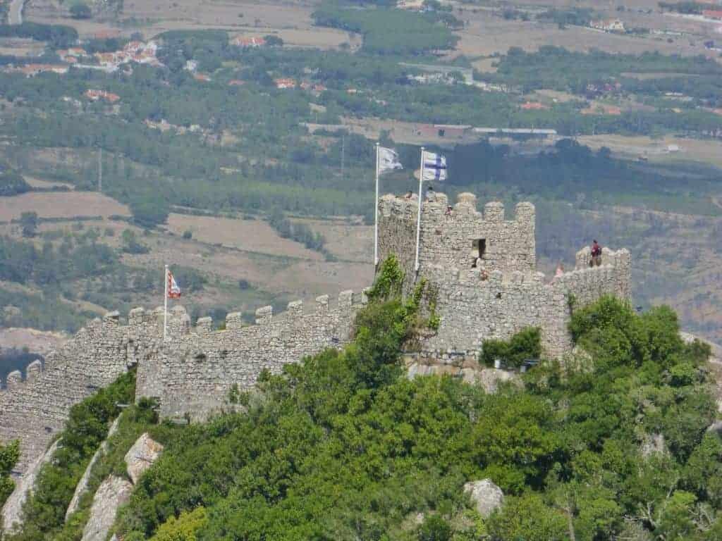 Moorsish Castle in Sintra Portugal
