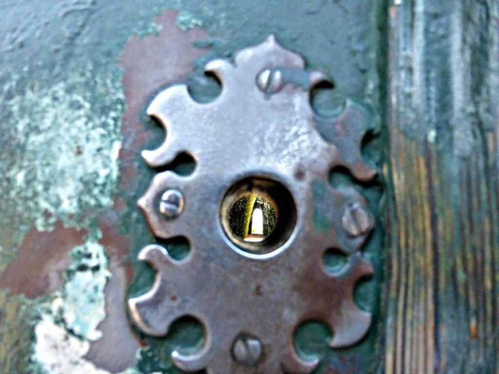 Lock in Rome Door