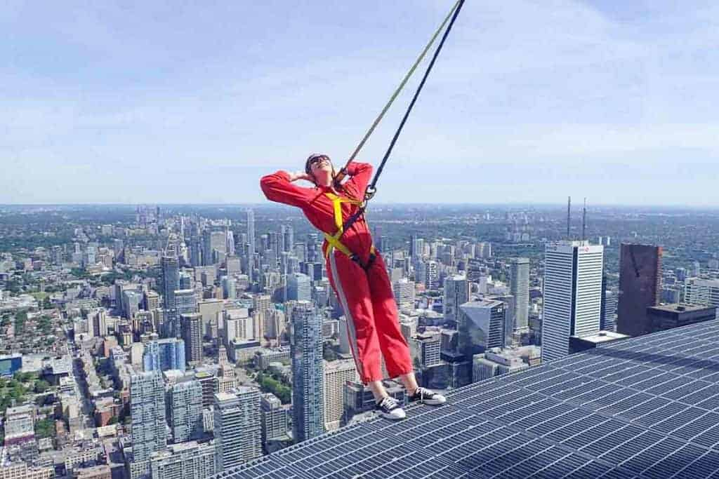 The CN Tower Edgewalk- I have no idea WHAT I was thinking!!