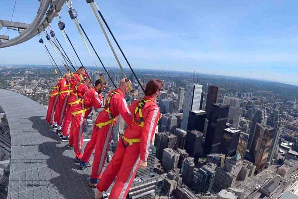 Hanging out on the CN Tower Edgewalk