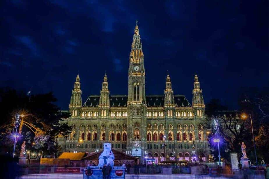 Christmas Market Europe Tips- book tickets in advance where possible. (Vienna, Austria Christmas Market Ice rink)