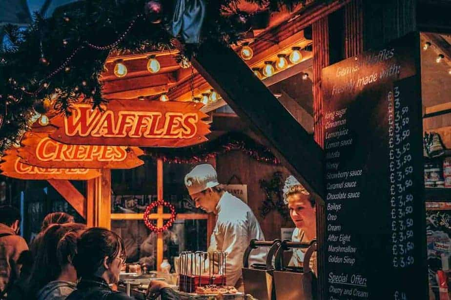 What food can you buy at European Christmas Markets?