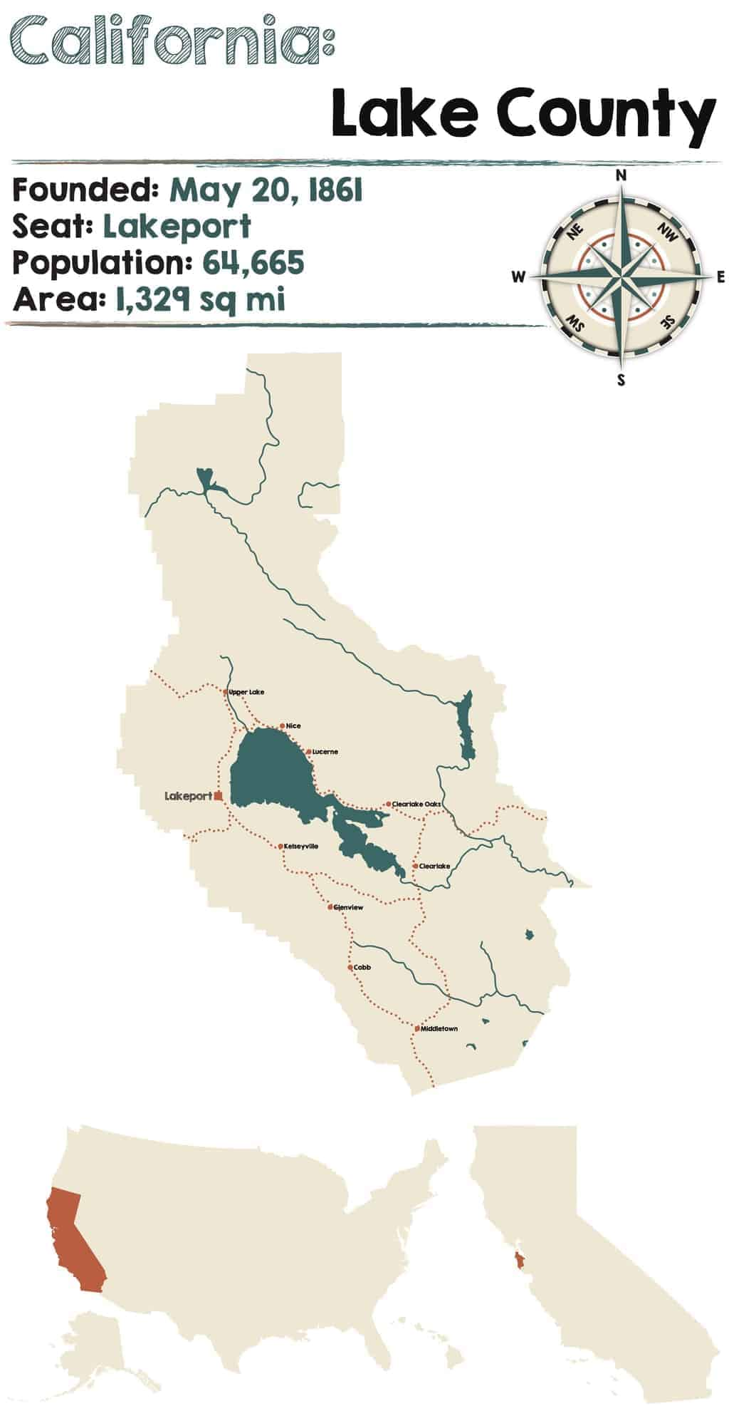 Lake County CA Wine Region Map & Best Wineries Itinerary | Winetraveler.com