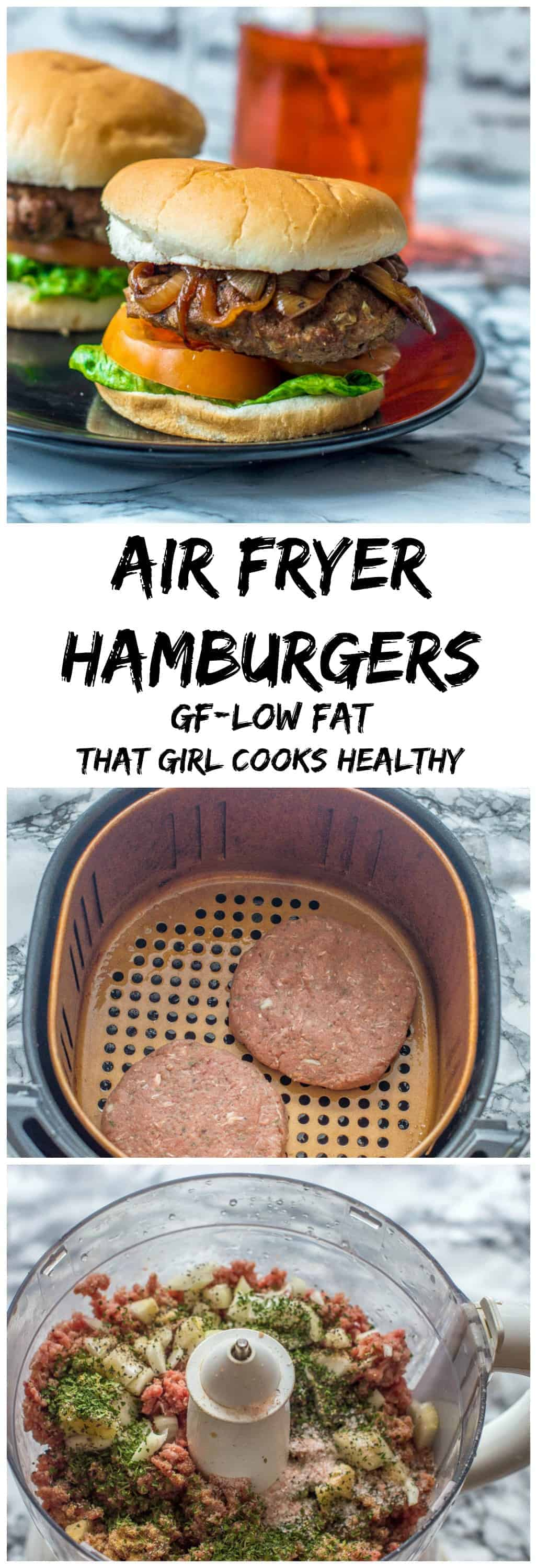 Tasty air fryer hamburgers made from scratch using lean beef - a great, low fat, child friendly appetiser.