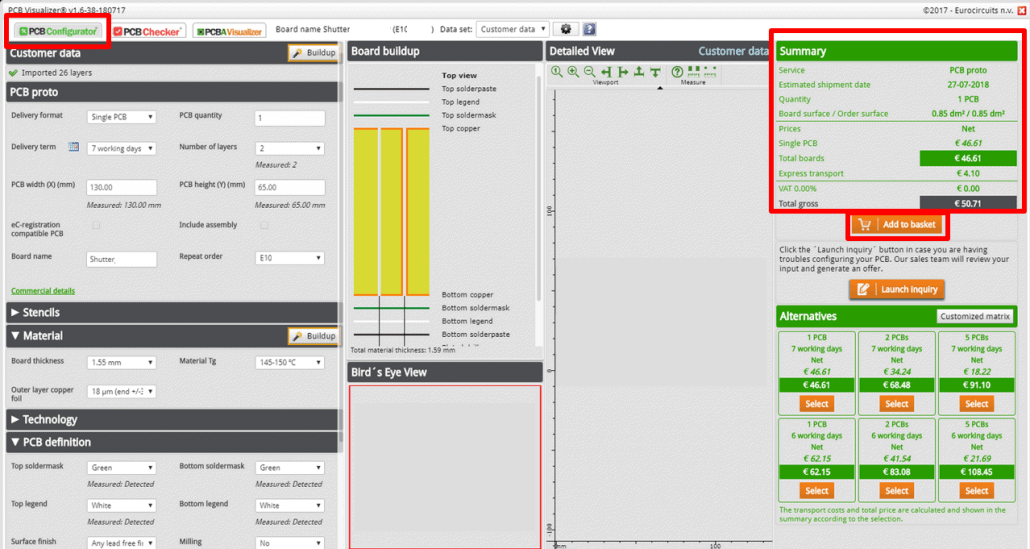 Repeat order PCB Config - web
