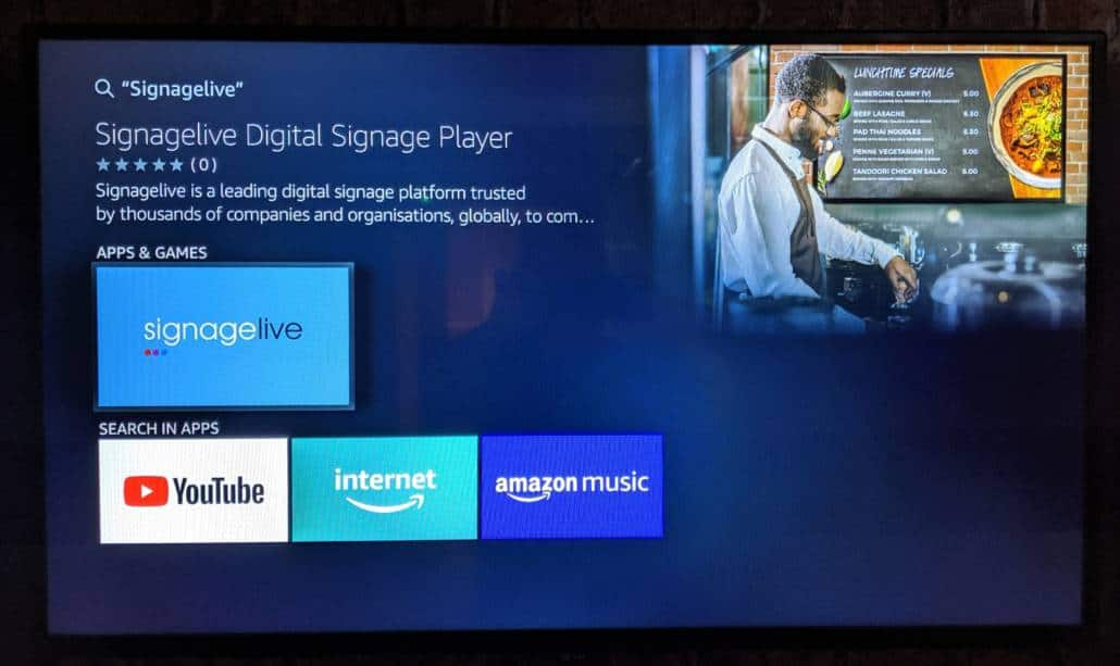 Signagelive for Amazon Fire Tv – Listing