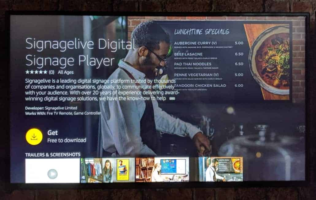 Signagelive for Amazon Fire Tv – Install