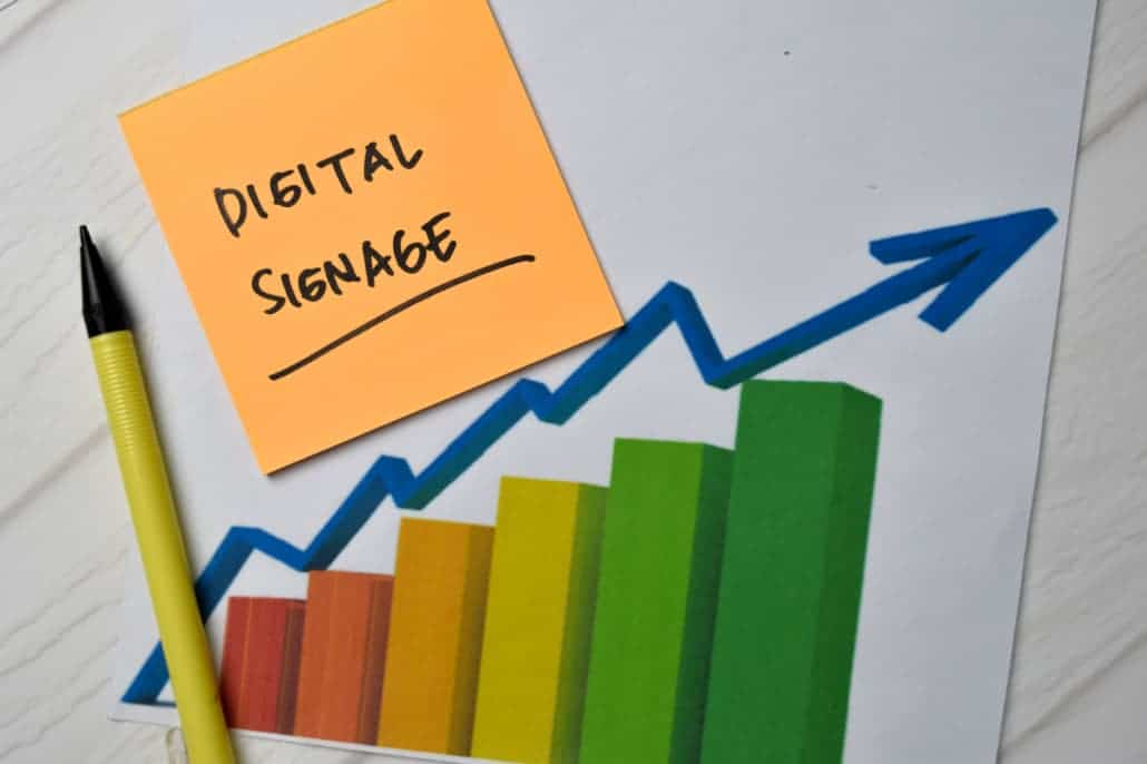 Digital signage is growing as businesses react to ever changing situations