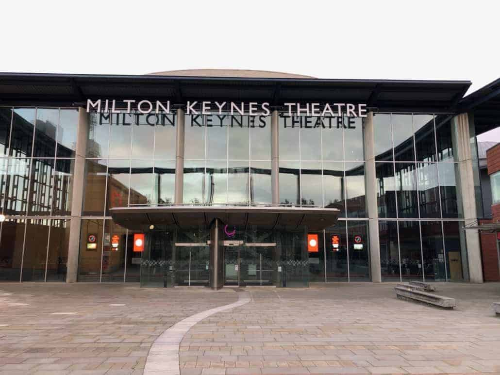 Milton Keynes Theatre welcoming front entrance