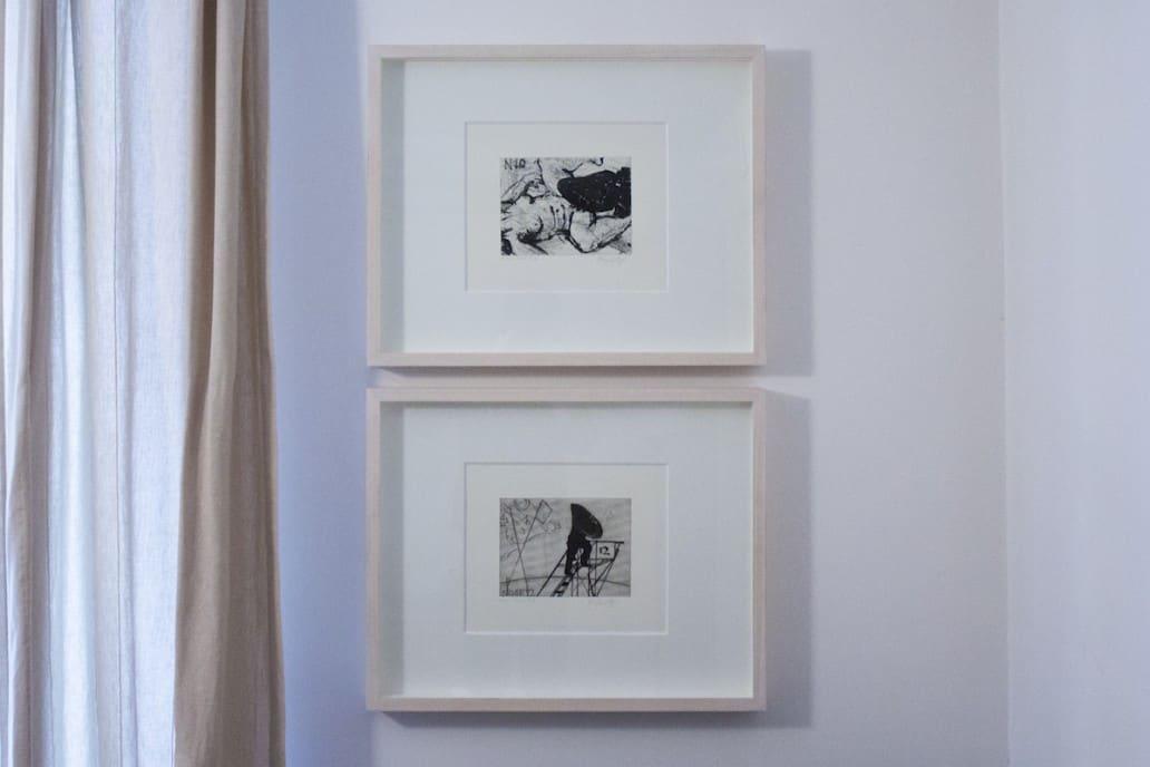 William Kentridge, Nose series, 10 and 12