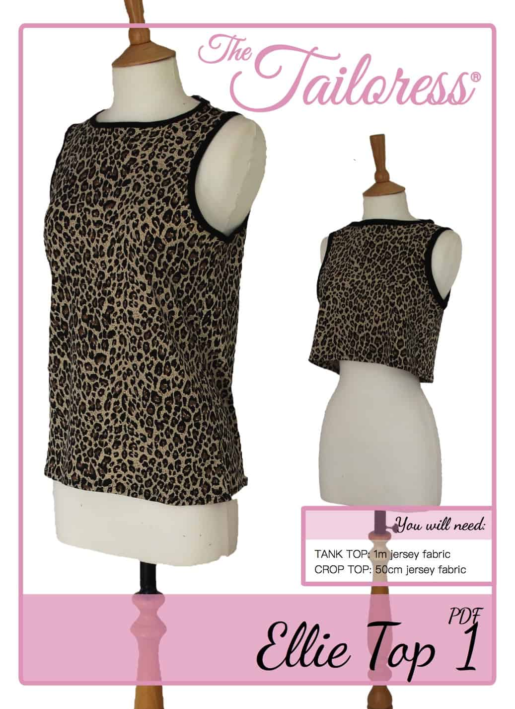 The Tailoress PDF Sewing Patterns - Ellie Tank & Crop Top 1 Tutorial