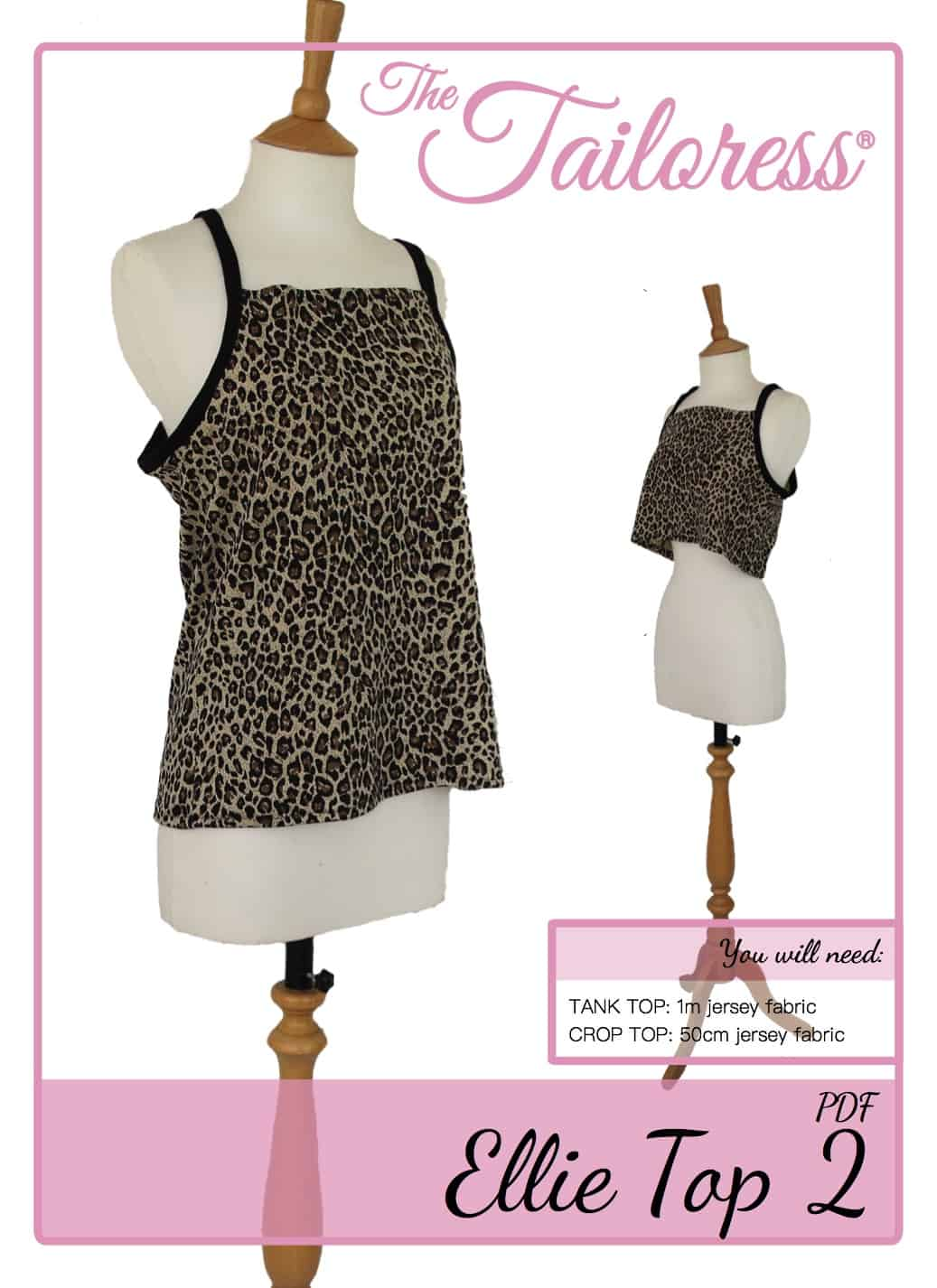 The Tailoress PDF Sewing Patterns - Ellie Tank & Crop Top 2 Tutorial