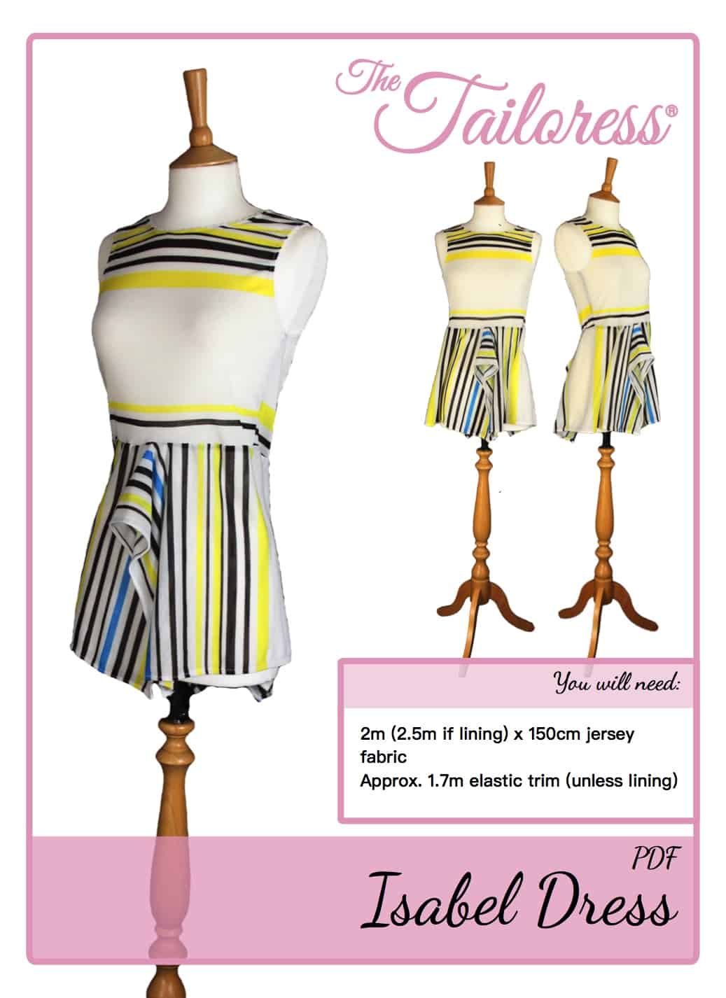The Tailoress PDF Sewing Patterns - Isabel Dress (Adult size) Tutorial